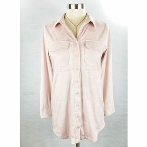 NWOT Soft Surroundings Pink Faux Suede Tunic Top S